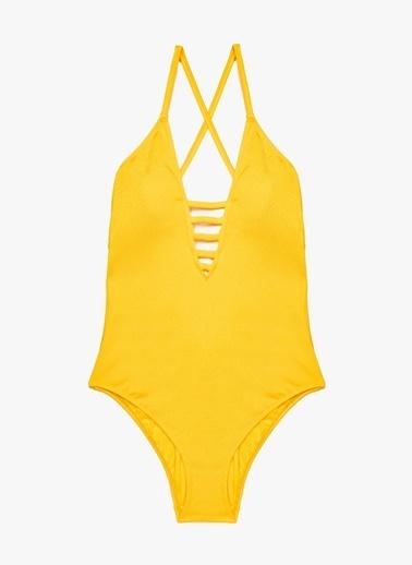 Koton Koton Sarı Mayo Sarı